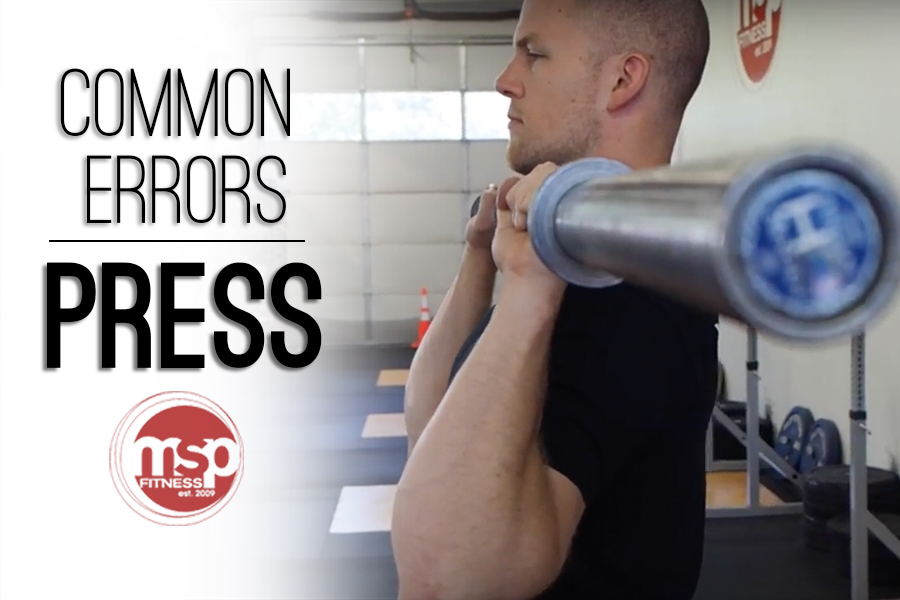Common Errors for PRESS | Fix mistakes on the barbell press