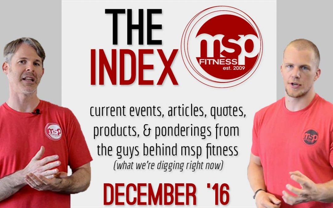 The Index [December 2016]