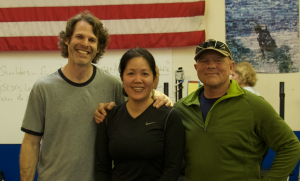 Michael, Van, and Senior International Weightlifting coach Mike Burgener